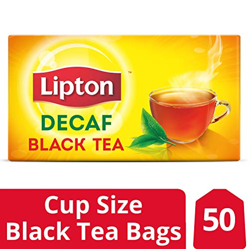 Lipton Black Tea Bags, Decaffeinated, 50 ct, Pack of 12