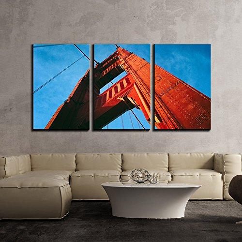 Golden Gate Bridge Viewed from below x3 Panels
