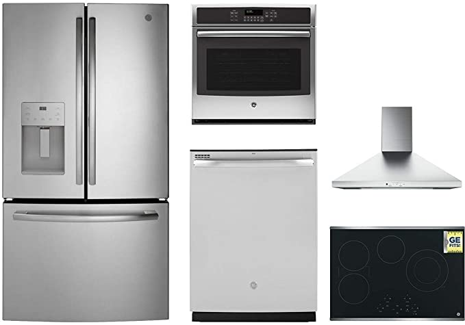 Amazon.com: GE 5-Piece Kitchen Appliance Package with 36 ...