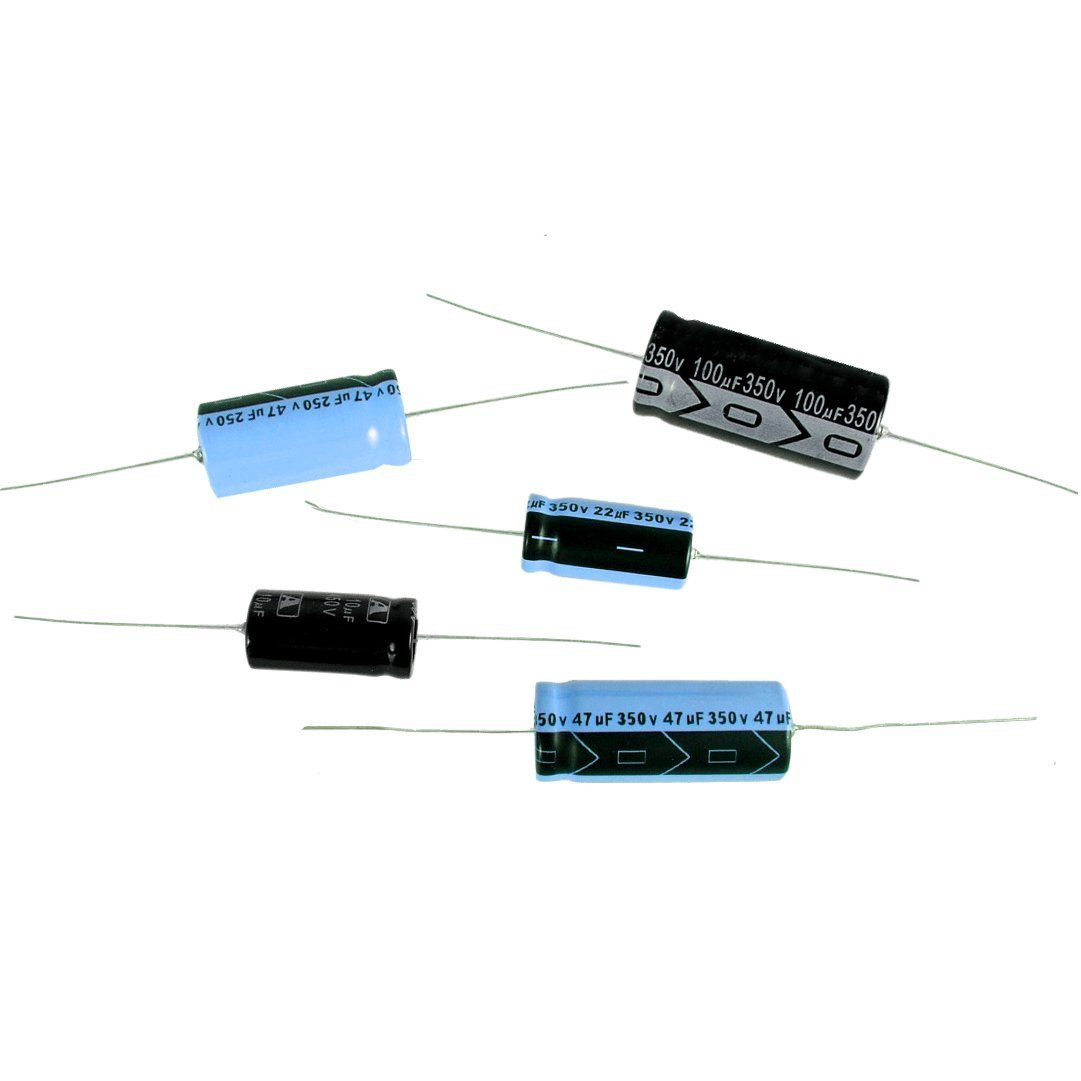 For Audio, Guitar Amplification, Antique Radios, Etc. 50V 47uF Axial Lead Electrolytic Capacitor
