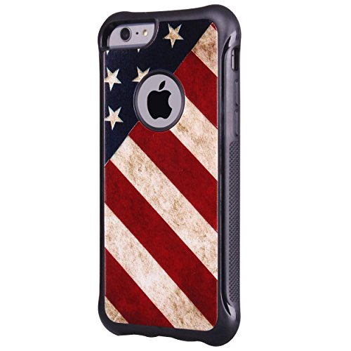 True Color Case Compatible with iPhone 6s Case, Patriotic Vintage American Flag Printed Impact Resistant TPU Protective Anti-slip Grip Snap-On Soft Rugged Cover by TrueColor (Image #4)