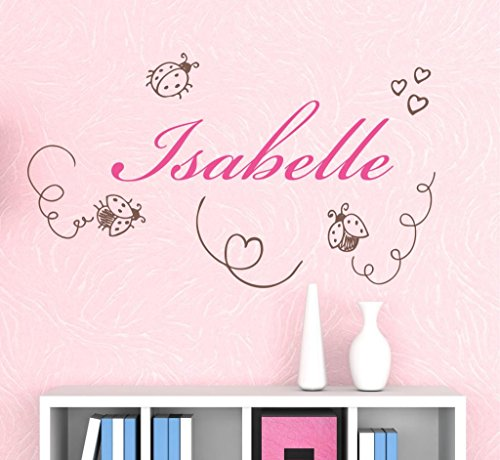 Nursery Ladybugs Custom Name Wall Decal Sticker, 28