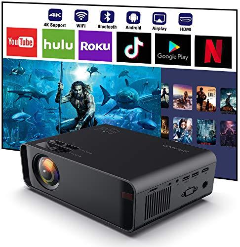 SOTEFE® WiFi Video-Beamer 1080P Full HD -Bluetooth Projektor- Video Beamer Unterstützung 4K Film Video Online Download…