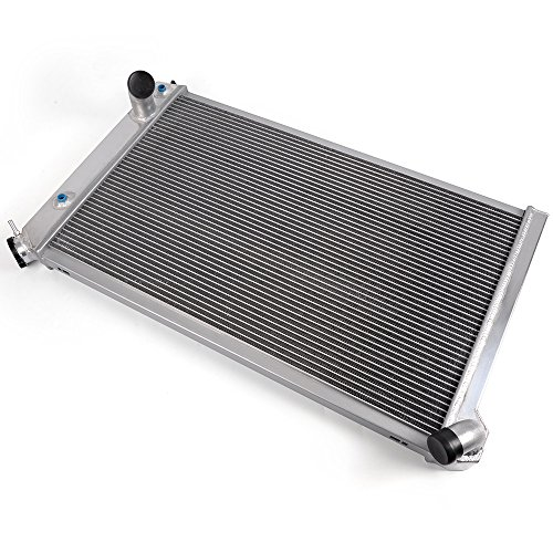 Silver Full Aluminum Racing Radiator Replacement For 1973-1976 CHEVY Corvette V8 5.7L/7.4L 1974 1975