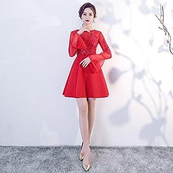 JKJHAH Vestidos De Novia Vestidos De Noche Rojos Vestidos, Rojo, XXL