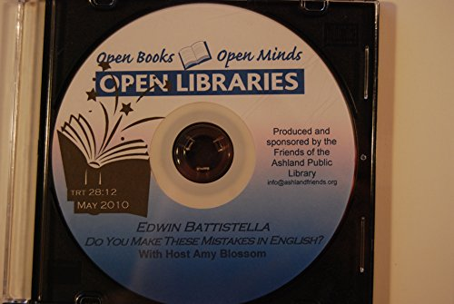 Open Books Open Minds Open Libraries: Edwin Battistella, Do You Make These Mistakes In English May 2010