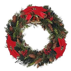 HMILYDYK 20PCS Xmas Tree Ornaments 8 INCH Red Poinsettia Flowers Festival Decor Artificial Flowers 8
