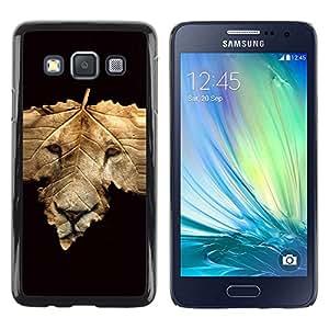 Be Good Phone Accessory // Dura Cáscara cubierta Protectora Caso Carcasa Funda de Protección para Samsung Galaxy A3 SM-A300 // Abstract Lion Face