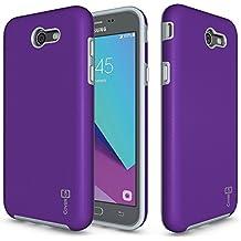 Galaxy J7 V Case, Galaxy J7 2017 Case, Galaxy J7 Perx Case, CoverON [Rugged Series] Dual Layer Protective Hard Armor Phone Cover Case for Samsung Galaxy J7 Perx / J7 Sky Pro / J7 2017 / J7V - Purple