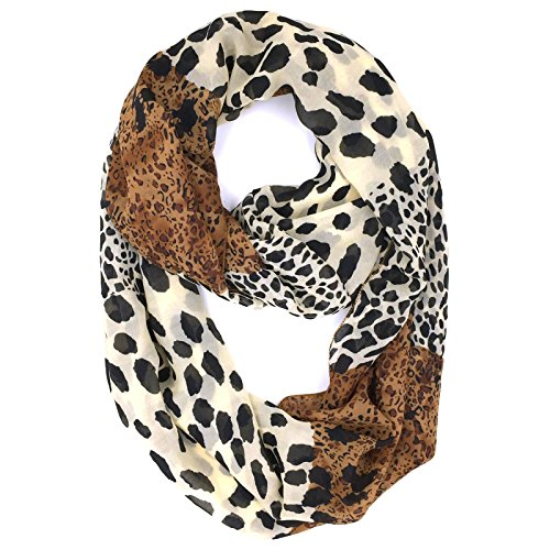 Womens Fashion Infinity Scarf - Tapp C. Fashion Leopard Print Infinity Scarf - Section Print