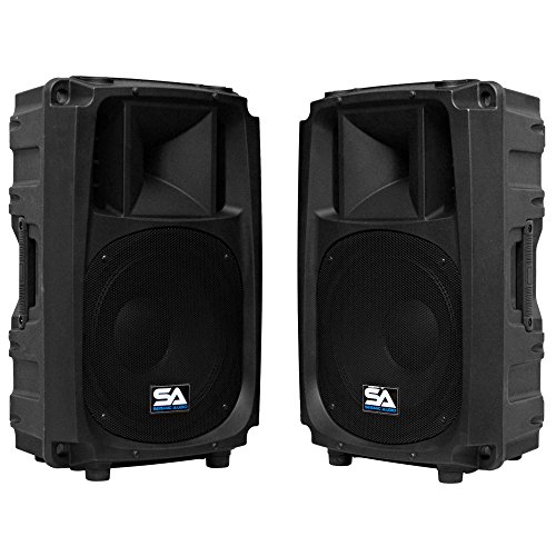 Seismic Audio S_Wave-12-Pair - Pair of 12' 2-Way PA/DJ Speaker Cabinets - 12'