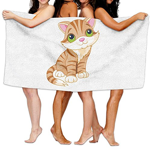 Catfish Swimming Costumes (Cute Cat Cartoon Bath Towel Super Soft Beach Swimming Towels)