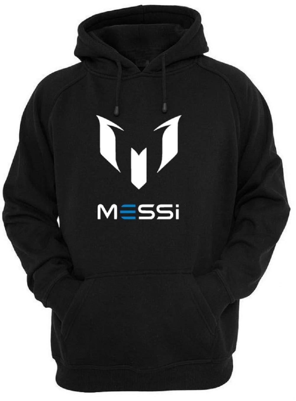 New! Lionel Messi Logo Soccer Hoodie for Boy's (YMedium-8/10) Black