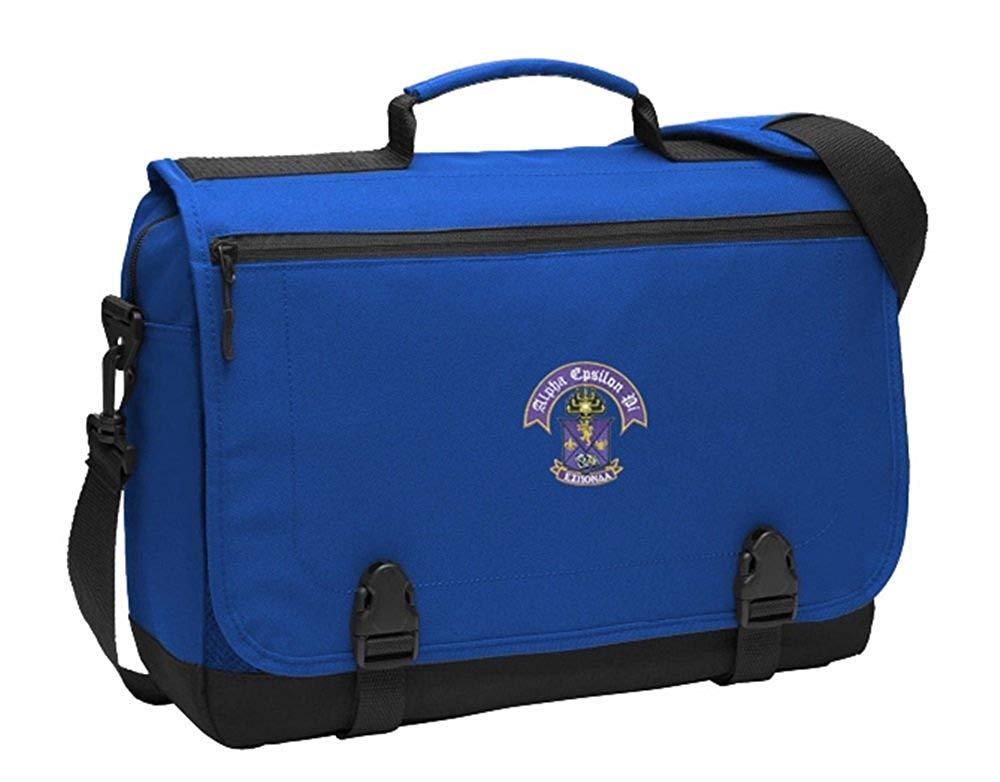 Greekgear Alpha Epsilon Pi Messenger Briefcase Royal Blue