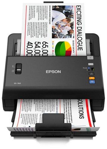 Epson WorkForce DS-760 Hi Speed, Sheet-Fed Color Document Scanner,  80 page Auto Document Feeder (ADF) & Duplex (B11B222202)