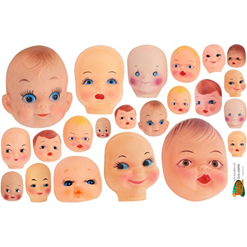 - Creepy Doll Heads Vinyl Sticker Sheet Assorted Car and Laptop Decals