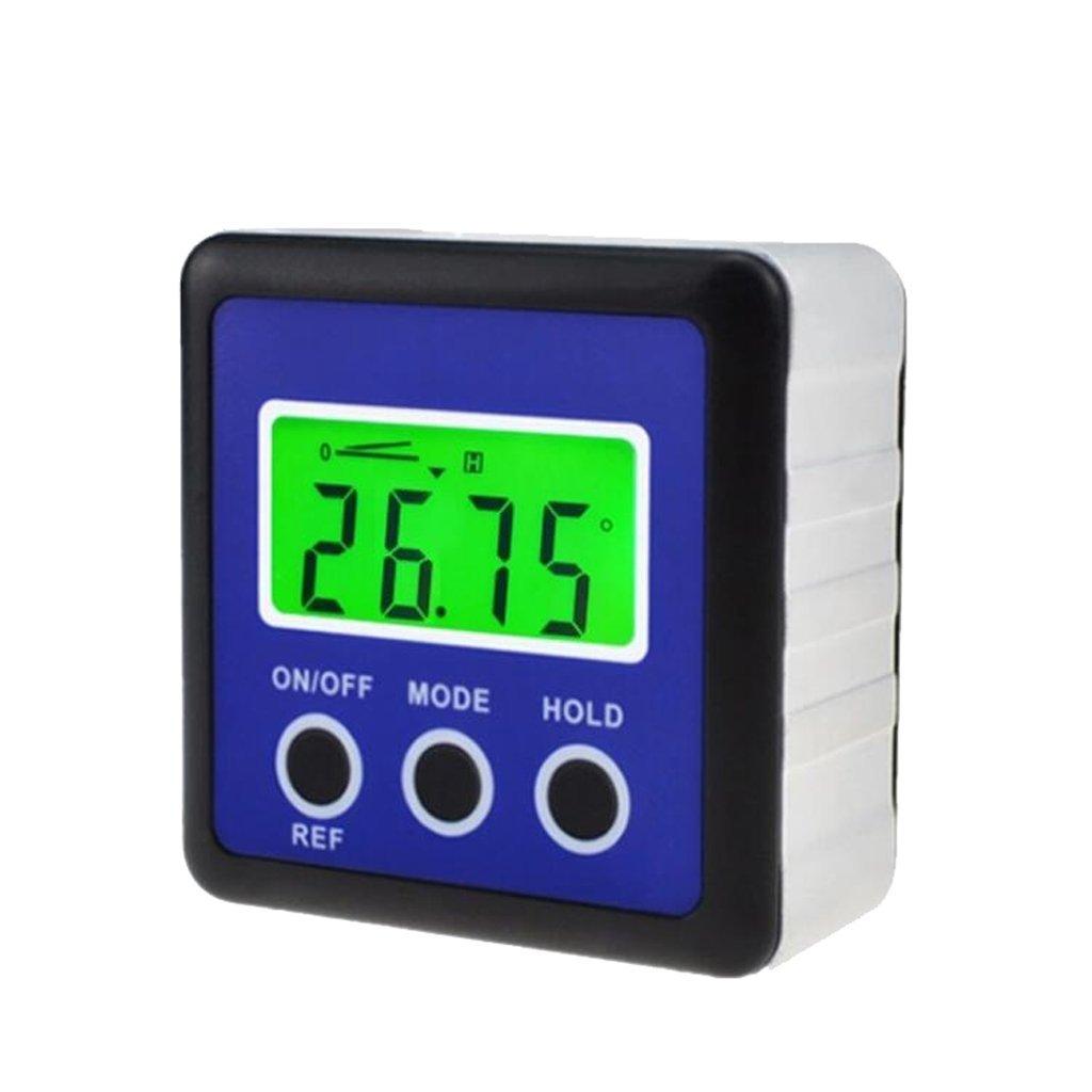 Homyl Digital Mini Angle Gauge Magnetic Angle Protractor Level Inclinometer Blue