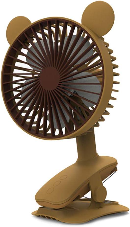 TIM-LI Ventilador De Escritorio Oscilante con Clip - Ventilador Personal Portátil con Ventilador USB De 3 Velocidades, para El Hogar/Oficina/Cochecito/Exterior,Amarillo