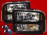 99 superduty headlights - 99-04 SUPERDUTY EXCURSION CONVERSION 07 BLACK HARLEY HEADLIGHTS 00 01 02 03