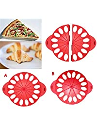 Get (2 parts/set) Plastic Kitchen Knife Pastry Cutters Pizza Wheels Croissant Maker Bread And Pizza Cutters (MH-1116) occupation