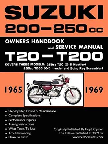 suzuki t20 t200 1965 1969 factory workshop manual floyd clymer rh amazon com Suzuki Repair Manuals Suzuki Owner's Manual