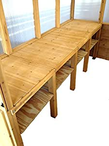Terra Greenhouse, Premium Wood Construction, (Color: New Cedar) Free On-site Assembly and Installation Included