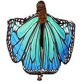 Hemlock Butterfly Shawl, 2018 New Womens Halloween Butterfly Wings Shawl Cape Scarf Fairy Poncho Shawl Wrap Costume Accessory (Blue)