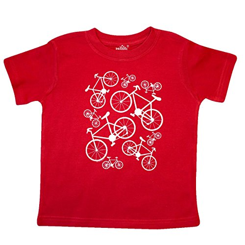 - inktastic - White Big/Small Bikes Toddler T-Shirt 3T Red 2694b