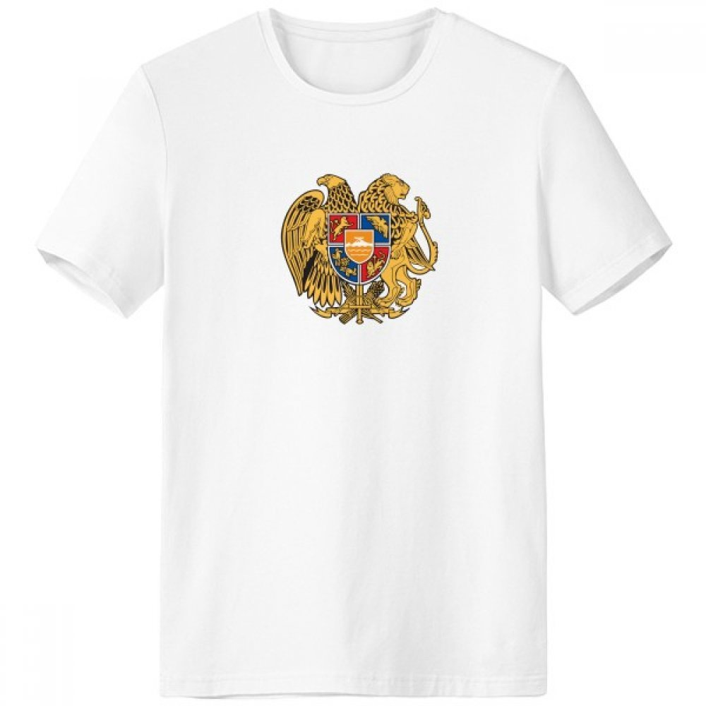 Yerevan Armenia National Emblem Crew Neck White T-shirt Short Sleeve Comfort Sports T-shirts Gift