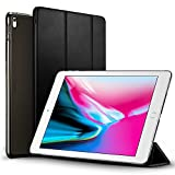 iPad Pro 12.9 2017 Case, ESR Lightweight Smart Case Trifold Stand with Auto Sleep/Wake Function, Microfiber Lining, Hard Back Cover for Apple iPad Pro 12.9'(Black)