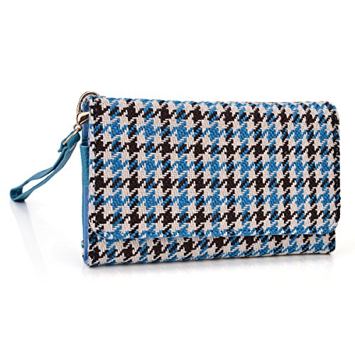 kroo-clutch-wristlet-wallet-case-for-smartphones-up-to-52-inch-non-retail-packaging-blue-houndstooth