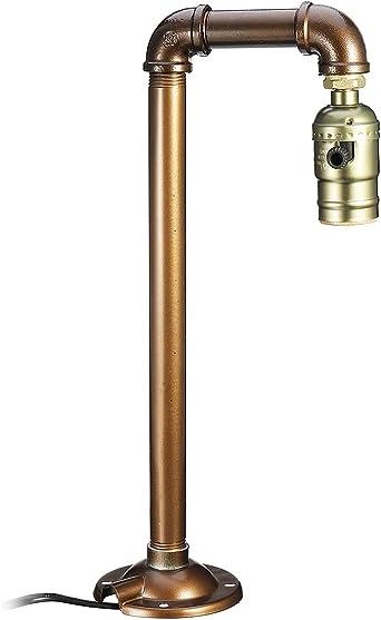 Pipa de agua Lámpara de mesa industrial Bombilla Luz de escritorio ...
