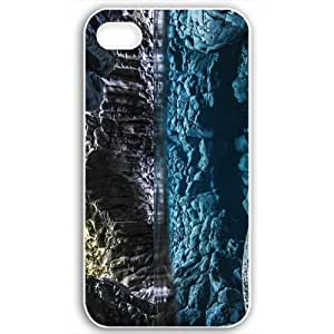 Diy Yourself Apple iPhone 5c case covers Customized Gifts 63VN4Q0C7I8 Of Beach beaches underwater cave 17698 White