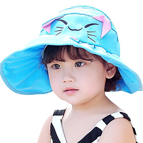 IMLECK Cute Kitten UPF 50+ Sun Protection Baby Sun Hat free shipping