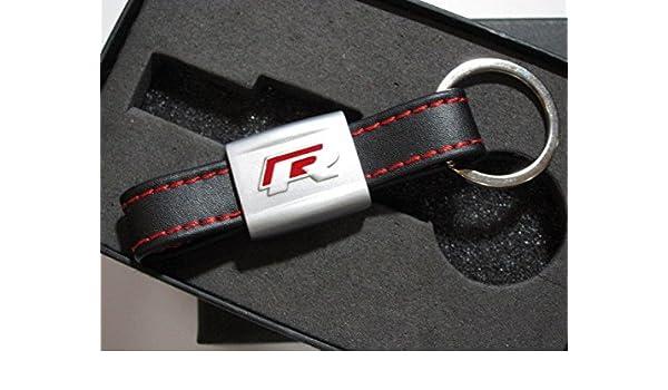 VW Red R LEATHER Keyring KeyChain for VOLKSWAGEN GOLF PASSAT R32 SIROCCO  MK6 MK7 7cf27adc729b