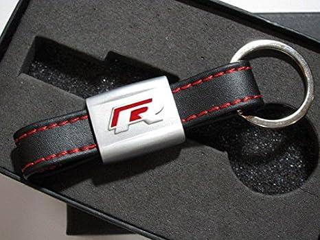 VW rojo R piel llavero llavero para Volkswagen Golf Passat ...