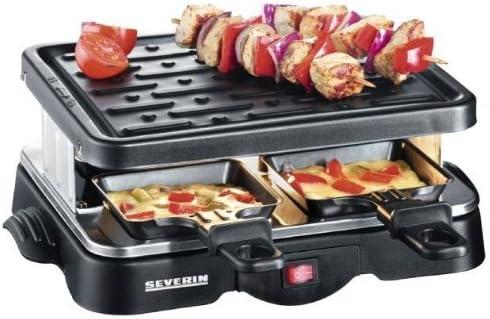 Severin RG 2682 - Plancha/Raclette con 4 sartenes