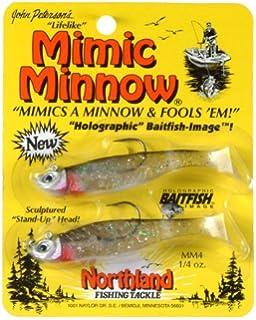 1.5 Northland Tackle MMTT1-1 Mimic Minnow Tuff Tube Bait White