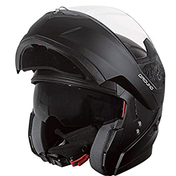 Stormer Casco Moto Modular Ground, Negro Mate, XS