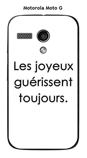 Onozo Carcasa Motorola Moto G Design citación Les Joyeux ...