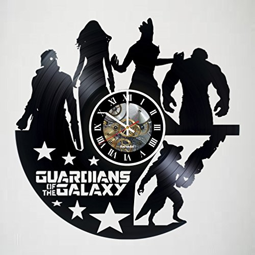 Guardians of the Galaxy Design Vinyl Wall Clock – handmade gift for any occasion – unique birthday, wedding, anniversary, Valentine's day gifts - Wall décor - LEAVE A FEEDBACK AND WIN A CLOCK!