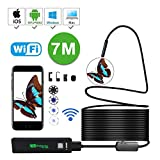 Waterproof Wireless Endoscope, KOBWA WiFi Borescope Inspection Camera 2.0 Megapixels HD 8 LED Light Snake Camera for Android and IOS Smartphone, IPhone, Samsung, Tablet, PC