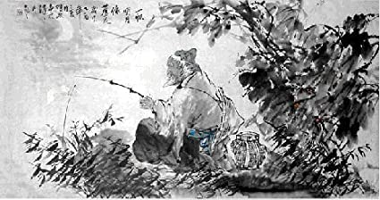 cde1c66776c Image Unavailable. Image not available for. Color  Artisoo Old man are  fishing - Chinese ...