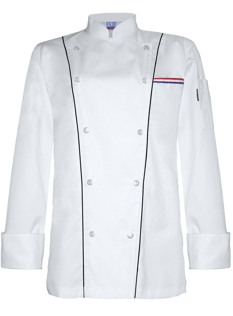 Newchef Fashion Lady Royal White Chef Coat 2XL White by Newchef Fashion