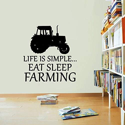 Life Is Easy Farm Car Calcomanías De Pared Removibles Para ...