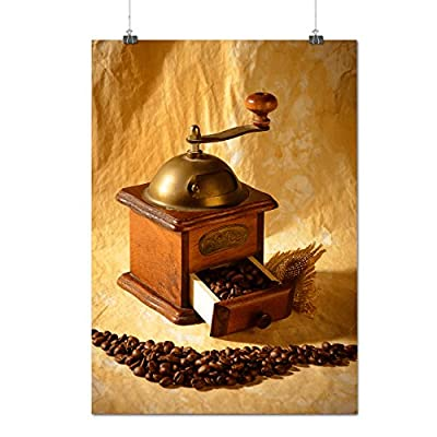 Coffee-Mill Device Bean Cutter Matte/Glossy Poster A0 A1 A2 A3 A4 | Wellcoda