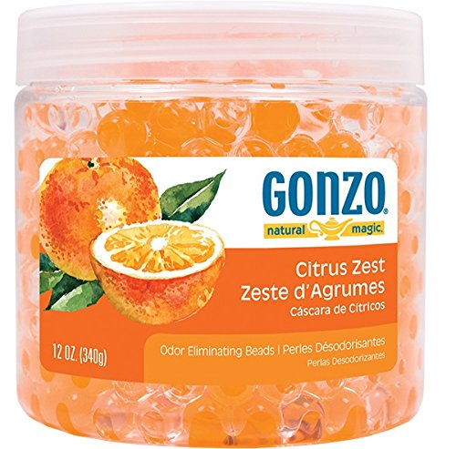 Gonzo Natural Magic Fragrance Beads - Odor Eliminator - 12 Ounce - Citrus (Eliminator Odor Citrus)