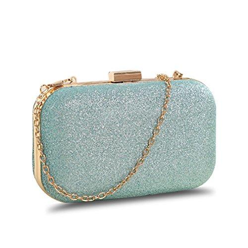 Generic women's Mini clutch evening bag high-end fashion (Sky blue)