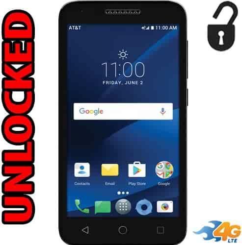 Alcatel Ideal Xcite 4G LTE Unlocked 5044R 5 inch 8GB Usa Latin & Caribbean Bands Android 7.0 IdealXcite