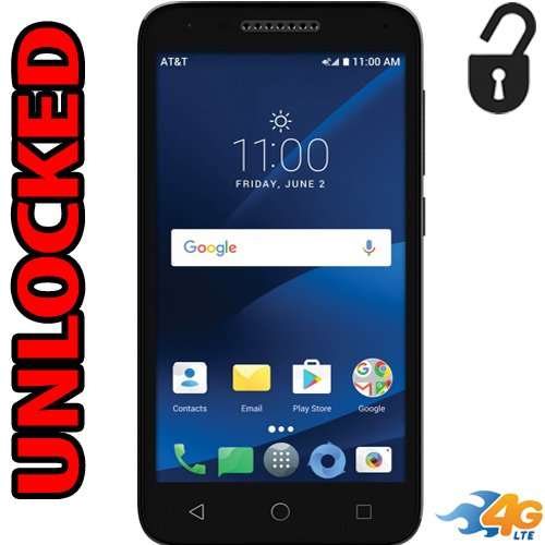 Alcatel Ideal Xcite 4G LTE Unlocked 5044R 5 inch 8GB Usa Latin & Caribbean Bands Android 7.0 IdealXcite ()